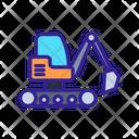 Excavator Construction Engineering Icon