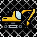 Excavator Construction Vehicle Icon