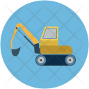 Excavator Construction Heavy Icon