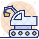 Excavator Earthmover Digger Icon