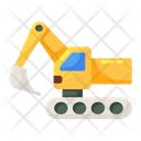 Excavator Crane Digger Icon