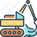 Earthmoving Excavator Digger Icon