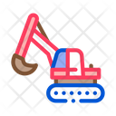 Excavator Machine Demolition Icon