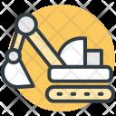 Excavator Digger Construction Icon