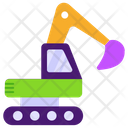 Industrial Crane Construction Crane Excavator Icon