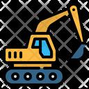 Excavator Bulldozer Heavy Icon