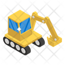 Industrial Crane Digger Backhoe Icon