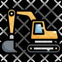 Excavator Bulldozer Machine Icon