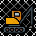 Excavator Construction Heavy Icon