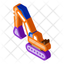 Excavator Mining Equipment Icon