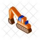 Road Repair Excavator Icon