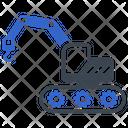 Construction Crane Excavator Icon
