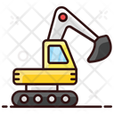 Excavator Heavy Machinery Crawler Icon