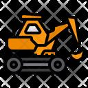 Excavator Constructions Heavy Vehicle Icon