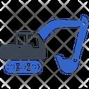 Bulldozer Digging Excavator Icon