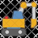 Excavator Construction Heavy Vehicle Icon