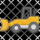 Excavator Vehicle Construction Icon
