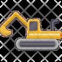 Excavator Construction Truck Icon