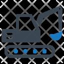 Construction Excavator Machinery Icon