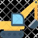 Excavator Crane Lifter Icon