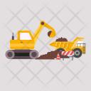 Excavator Excavators Truck Icon