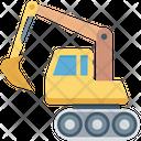 Bulldozer Excavator Heavy Machinery Icon