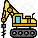 Excavator Auger Icon