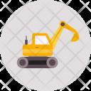 Excavators Truck Vehicle Icon