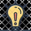 Except Lightbulb Concept Icon