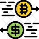 Exchange Bitcoin Cryptocurrency Icon