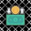 Exchange Transfer Bitcoin Icon