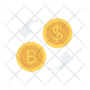 Exchange Currency Bitcoin Icon