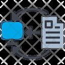 Exchange Information Transfer Icon