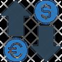 Exchange Euro Dollar Icon