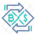 Exchange Bitcoin Currency Icon