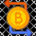 Exchange Bitcoin Cryptocurrency Online Money Exchange Icon