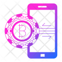 Mobile Security Cryptocurrency Icon