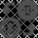 Exchange Bitcoins Bitcoin Exchange Currency Exchange Icon