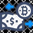 Exchange Cash Bitcoin Exchangemexchange Money Exchange Currency Icon