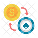 Exchange Chips Into Money Icon