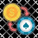 Chip Gamble Gambling Icon