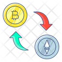 Exchange Bitcoin Exchange Cryptocurrency Foreign Exchange Icon