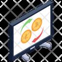 Exchange Cryptocurrency Btc Transaction Money Transfer Icon