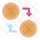 Exchange Currency Money Exchange Cryptocurrency Icon