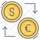 Exchange Currency Dollar Euro Icon