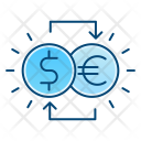 Currency Exchange Conversion Icon