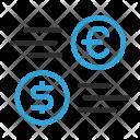 Exchange Dollar to Euro Icon