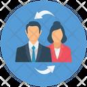 Exchange Employee Swap Employee Employee Transfer Icon