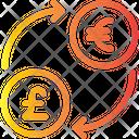 Exchange Euro To Pound Icon