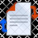 Exchange File Exchange Document Document Icon